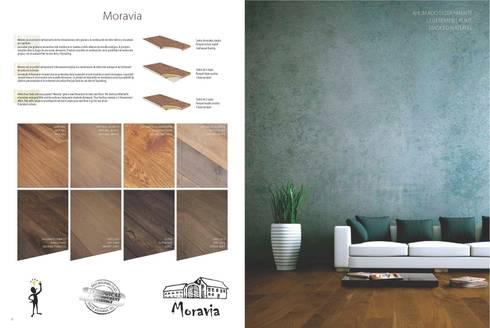 Moravia: Paredes y suelos de estilo rústico de Esco suelos de madera