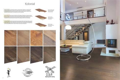 Kolonial: Paredes y suelos de estilo rústico de Esco suelos de madera