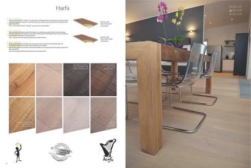 Harfa: Paredes y suelos de estilo rústico de Esco suelos de madera