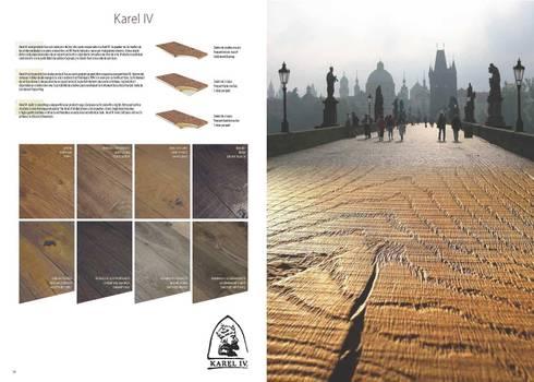 Karel IV: Paredes y suelos de estilo rústico de Esco suelos de madera