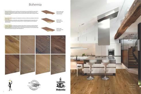Bohemia: Paredes y suelos de estilo rústico de Esco suelos de madera