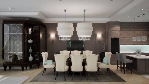 Лион: Столовые комнаты в . Автор – Level
