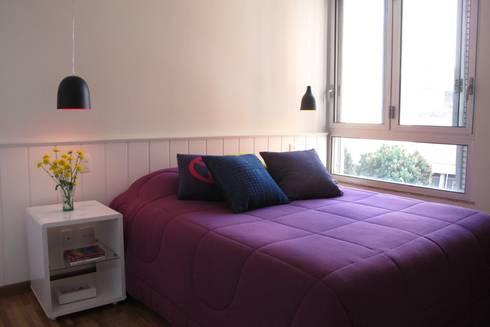Apartamento Visconde da Luz: Quartos modernos por Rachel Nakata Arquitetura