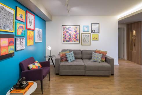 Apartamento Trama: Salas de estar modernas por Semerene - Arquitetura Interior