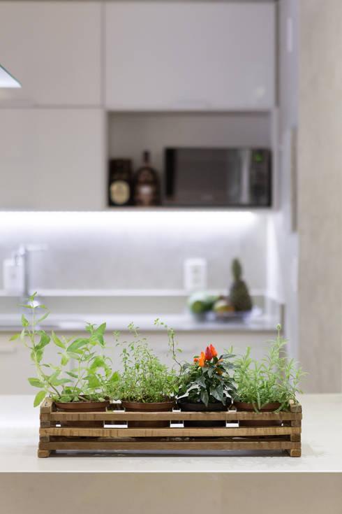 Apartamento Trama: Cozinha  por Semerene - Arquitetura Interior