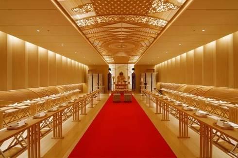 パレスホテル東京 神殿 組木アートワーク: ubushina(t.c.k.w inc.)が手掛けたアートです。