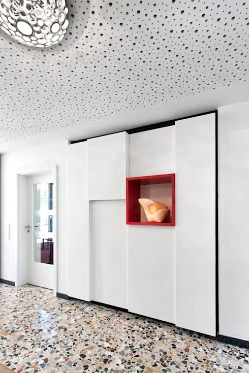 Projekty,  Korytarz, hol i schody zaprojektowane przez puschmann architektur