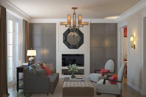 Квартира в стиле эклеткики: Гостиная в . Автор – COUTURE INTERIORS