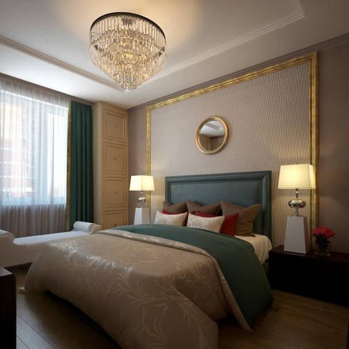 Квартира в стиле эклеткики: Спальни в . Автор – COUTURE INTERIORS