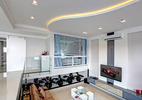 RESIDÊNCIA AV: Salas de estar modernas por Le Araujo Arquitetura