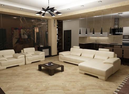Дизайн квартиры: Гостиная в . Автор – Efimova Ekaterina