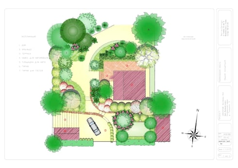 Landscape masterplan.: Сады в . Автор – BersoDesign ❖ Landscape architecture. Design.