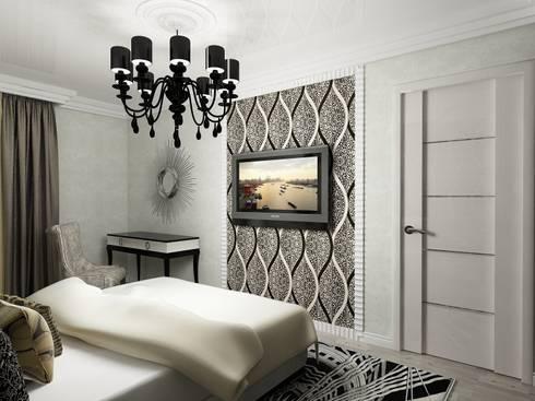 Спальня в арт-деко: Спальни в . Автор – Efimova Ekaterina