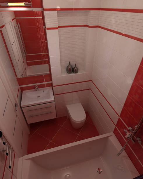Дизайн квартиры 2: Ванные комнаты в . Автор – Efimova Ekaterina