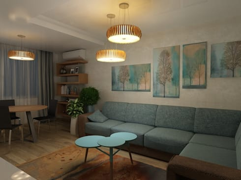 Дизайн квартиры 2: Гостиная в . Автор – Efimova Ekaterina