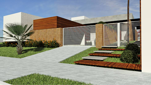 Residência SM+: Casas modernas por Quattro+ Arquitetura
