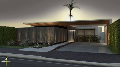 Residência VB+: Casas modernas por Quattro+ Arquitetura