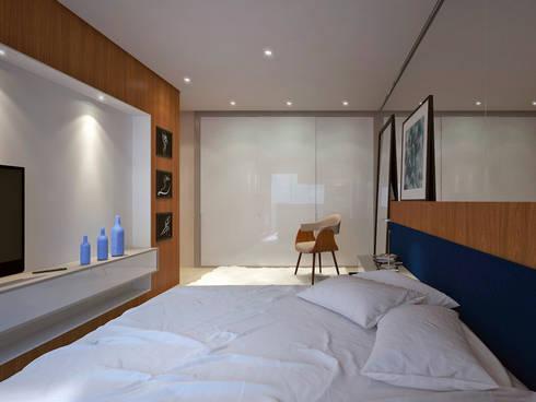 Residência FC+: Quartos  por Quattro+ Arquitetura