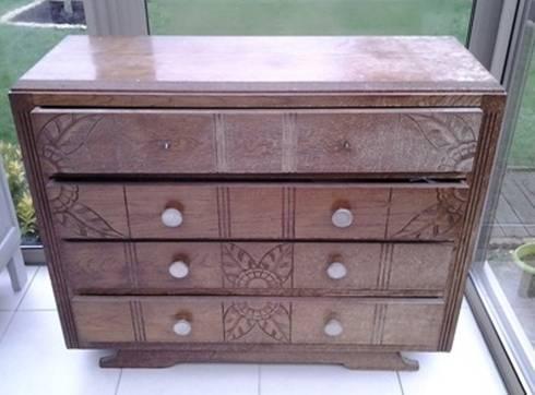 commode vintage art d co patin e bleu d nim por meuble et patine cr ation homify. Black Bedroom Furniture Sets. Home Design Ideas