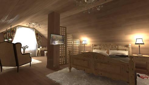 Мансарда в стиле <q>Прованс</q>: Спальни в . Автор – Makhrova Svetlana