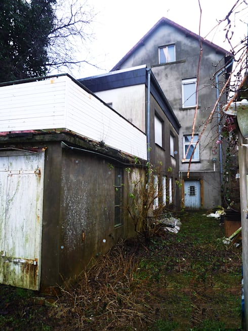 Altbestand vor Sanierung: ausgefallene Häuser von Gronemeyer architekten