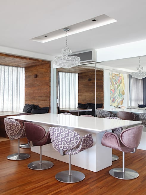 Salas de jantar modernas por Cadore Arquitetura