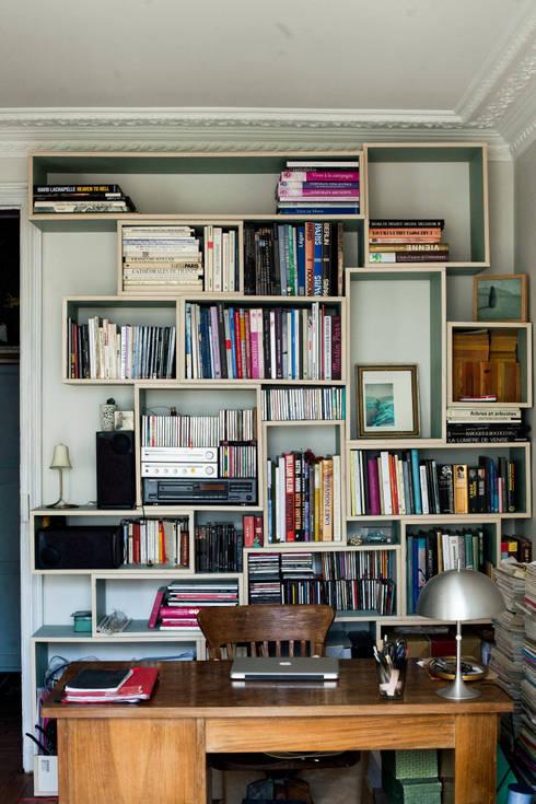 Bibliothèque : Bureau de style de style Moderne par Thibaut and Thewood