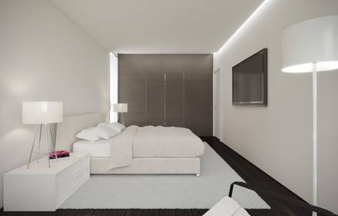Moradia Alfazema: Quartos minimalistas por EVA   evolutionary architecture