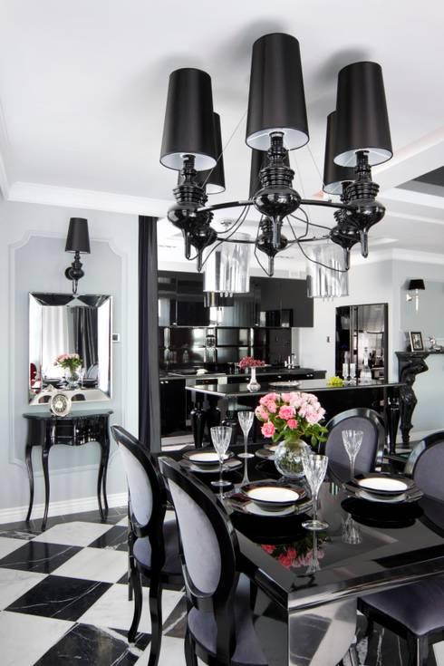 Salas de jantar  por livinghome wnętrza Katarzyna Sybilska