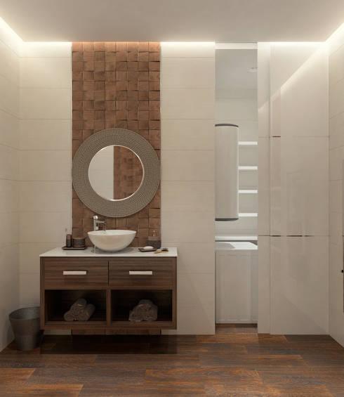 Лофт для молодой пары.: Ванные комнаты в . Автор – Домрачева Екатерина