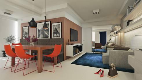 APTO MZ: Salas de estar modernas por AF Arquitetura