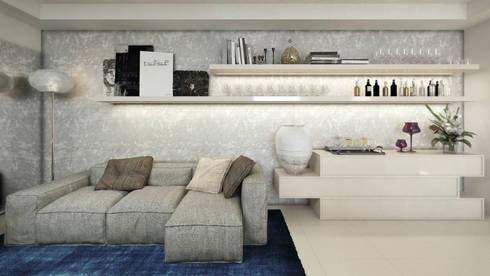 APTO MZ : Salas de estar modernas por AF Arquitetura