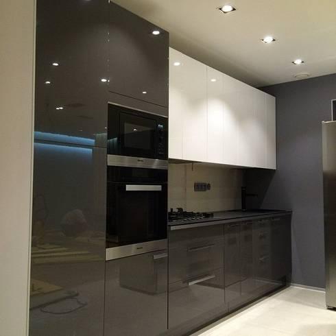 Квартира 120м.кв. : Кухня в . Автор – PlatFORM