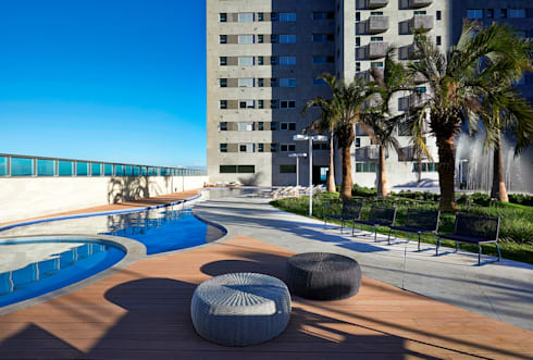 Ed. Residencial Green Garden: Piscinas modernas por Alessandra Contigli Arquitetura e Interiores