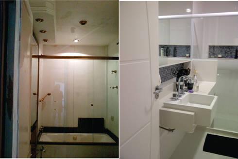 banheiro apartamento Laranjeiras:   por Margareth Salles