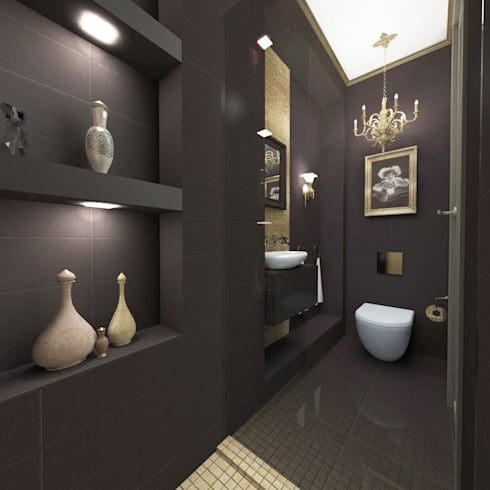 Квартира в Санкт-Петербурге: Ванные комнаты в . Автор – Ekaterina Bahir