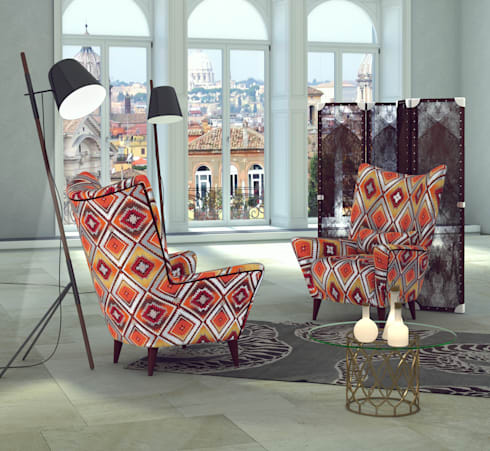 3d interior for chairs banzho: Гостиная в . Автор – 3D_DESIGNER_ALLA