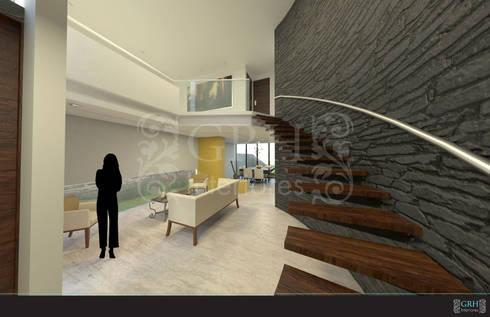 Proyecto Chaga: Salas de estilo moderno por GRH Interiores