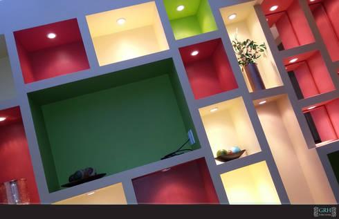 Vilma: Balcones y terrazas de estilo moderno por GRH Interiores