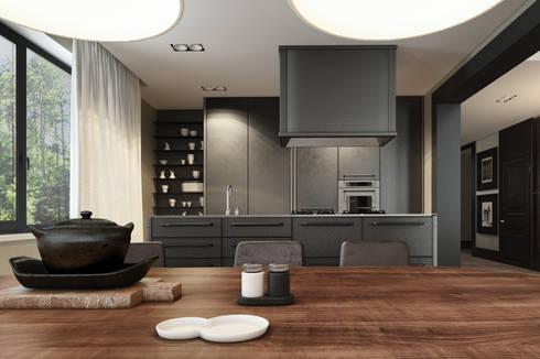 Дизайн загородного дома: Кухни в . Автор – MC Interior