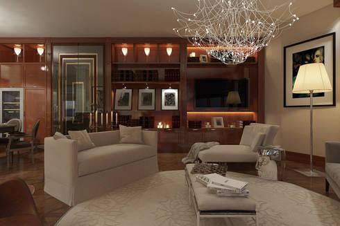 Проект интерьера частной квартиры , ЖК Парадный квартал, 133 кв.м.:  в . Автор – Дизайн элитного жилья | Студия Дизайн-Холл