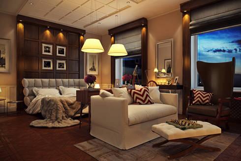 ЖК Парадный квартал , частная квартира  133 кв.м.:  в . Автор – Дизайн элитного жилья | Студия Дизайн-Холл