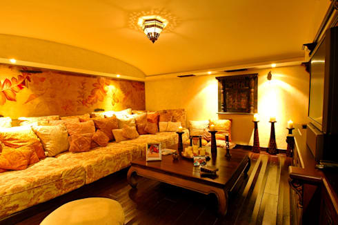 Casa Amore: Salas de estilo topical por BR  ARQUITECTOS