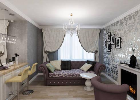 Легкая классика: Гостиная в . Автор – Алиса Ерыкова Художественное проектирование