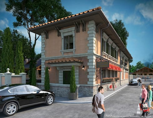 Пиццерия <q>La Strada</q>: Дома в . Автор – Максим Любецкий