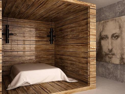 Cubes in flat: Спальни в . Автор – SHKAF interior architects
