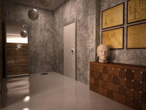 Cubes in flat: Коридор и прихожая в . Автор – SHKAF interior architects