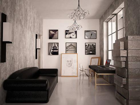 Cubes in flat: Рабочие кабинеты в . Автор – SHKAF interior architects
