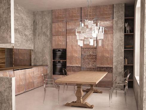 Cubes in flat: Столовые комнаты в . Автор – SHKAF interior architects