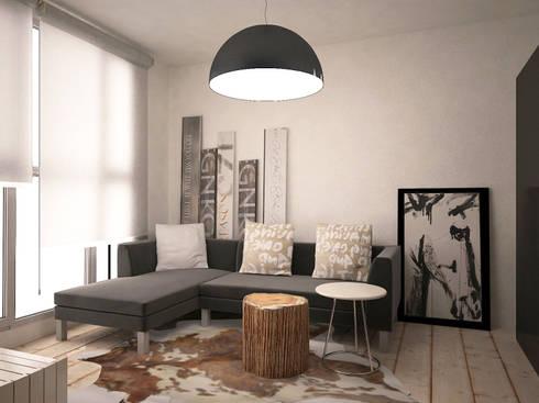 Da Vinci residential: Гостиная в . Автор – SHKAF interior architects